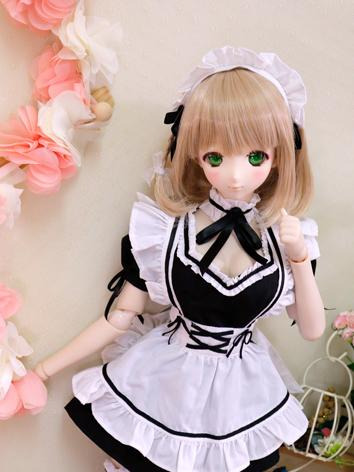 BJD Clothes Maid Costume Bl...