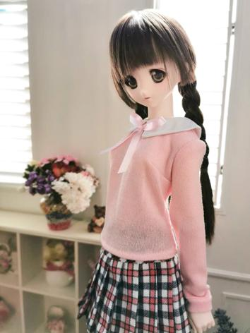 BJD Clothes Pink sweater an...
