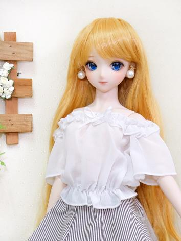 BJD Clothes white stripe Ch...