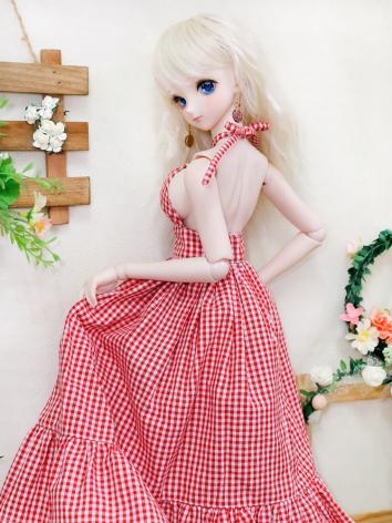 BJD Clothes Red/Blue/Mint Sundress Onepiece Dress for SD Ball Jointed Doll