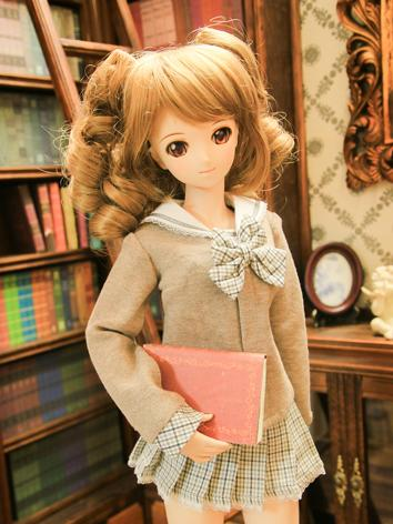 BJD Clothes girl khaki sail...