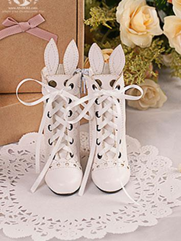 Bjd Shoes 1/4 BJD Rabbit Ear Shoes/White SH416064 for MSD Size Ball-jointed Doll