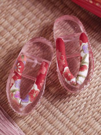 Bjd Shoes 1/4 Kid Pink Color Sakura Geta SH416065 for MSD Size Ball-jointed Doll
