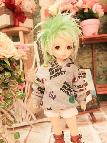 BJD Clothes White Gray  Hoo...
