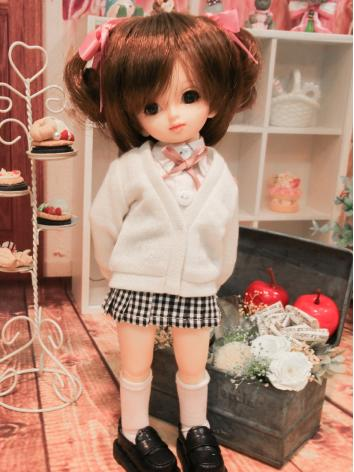 BJD Clothes Girl  pink whit...