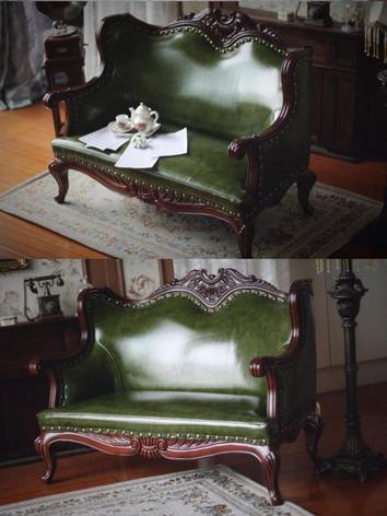 BJD Furniture Retro Green Sofa Chair for SD/70cm Ball-jointed doll