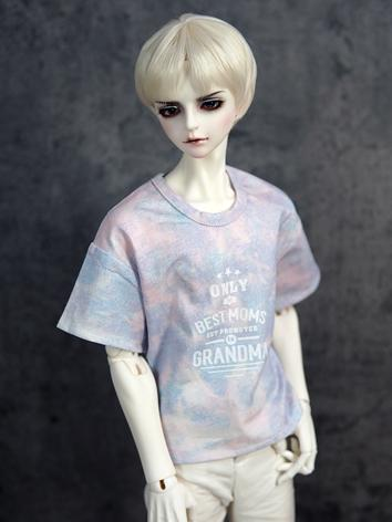 BJD Clothes Boy Pink&Blue Random Dyeing T-Shirt for 70CM Ball-jointed Doll
