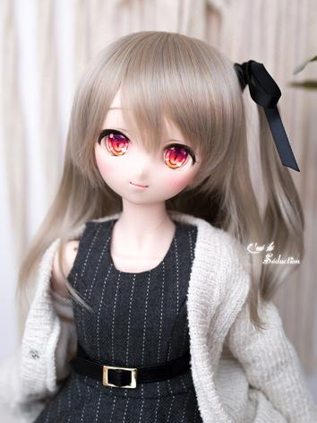 BJD Girl Wig Flaxen Gray Hair for SD Size Ball-jointed Doll