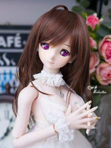 BJD Girl Wig Brown Hair for SD Size Ball-jointed Doll