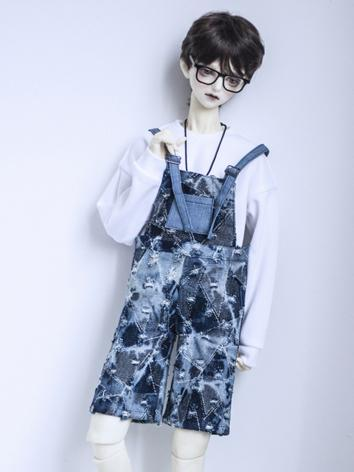 BJD Outfit 1/3 1/4 70cm Boy/Girl Jeans Suspender Pants Trousers for MSD/SD/70cm Size Ball-jointed Doll