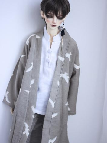 BJD Outfit 1/3 1/4 70cm Boy/Girl Long Cardigan Shirt Coat for MSD/SD/70cm Size Ball-jointed Doll