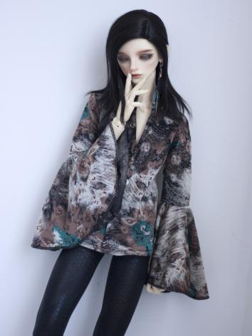 BJD Outfit 1/3 1/4 70cm Boy/Girl Printed Shirt Coat for MSD/SD/70cm Size Ball-jointed Doll