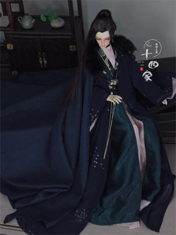 BJD Clothes Chinese Dark Bl...