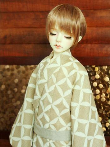 BJD Clothes Boy Beige Print...