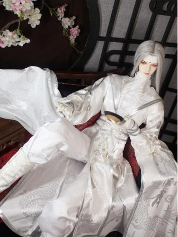BJD Clothes Boy White Ancie...