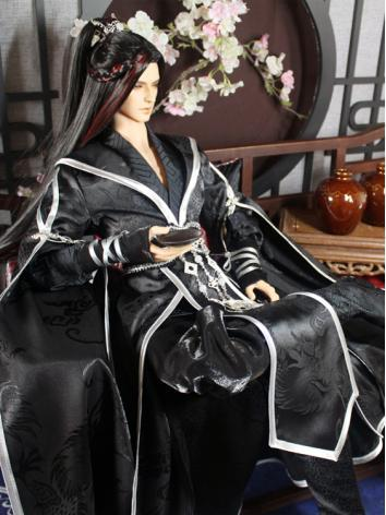 BJD Clothes Boy Black Ancie...