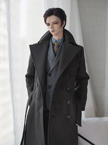 BJD Clothes Boy Black Overc...