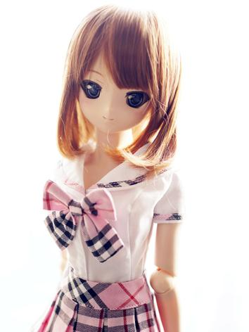 BJD Clothes Girl Pink and W...