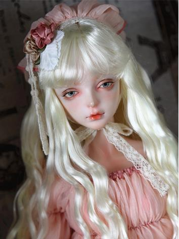 BJD Wig Girl Light Gold/Silver Curly Hair for SD/MSD/YOSD Size Ball-jointed Doll