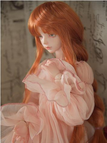 BJD Wig Girl Orange/White/Light Gold/Brown Curly Hair for SD/MSD/YOSD Size Ball-jointed Doll
