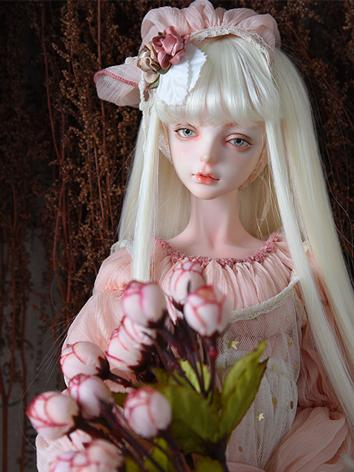 BJD Wig Girl Light Brown/Blue/Orange/Green/Light Gold/Dark Brown/Pink/Black Straight Hair for SD/MSD/YOSD Size Ball-join