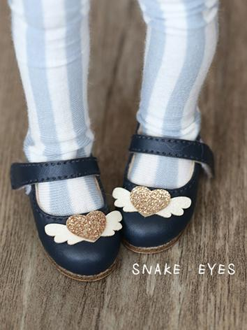 BJD Shoes Dark Blue/Black/White Cute Flat Shoes for YOSD size Ball-jointed doll