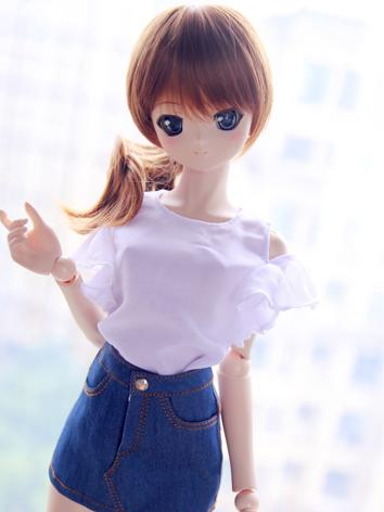 BJD Clothes Girl Dark Blue Denim Skirt For SD/MSD/YOSD Size Ball-jointed Doll