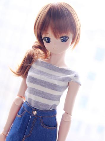 BJD Clothes Girl Blue/Gray/Pink  Knit Striped Top For SD/MSD/YOSD Size Ball-jointed Doll