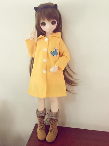 BJD Clothes Girl Yellow /Transparen  Raincoat For SD/MSD/YOSD Size Ball-jointed Doll