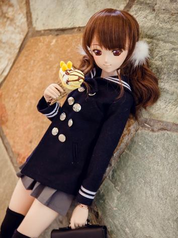 BJD Clothes Girl Dark Blue Sailor Coat  For SD/MSD Size Ball-jointed Doll