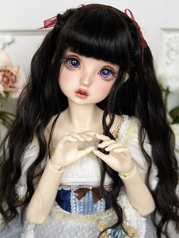 BJD Wig Girl Black/Chocolate/Gold Curly Hair for SD/MSD/YOSD Size Ball-jointed Doll