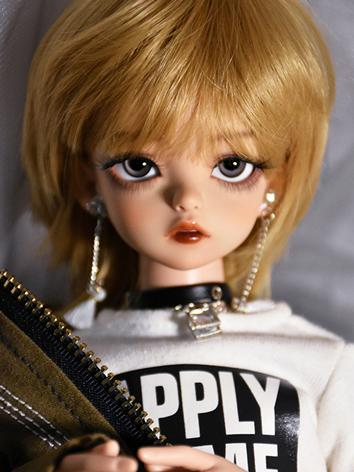 BJD Wig Boy/Girl Gold Hair Wig for YOSD/MSD/SD/70CM Size Ball-jointed Doll