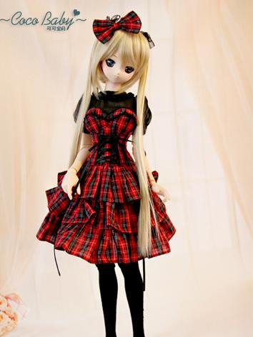 BJD Clothes Girl Red  Dress...