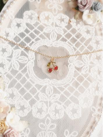 BJD Accessaries Decoration Cherry Necklace With Zircon Heart  for SD/MSD/YOSD Ball-jointed doll