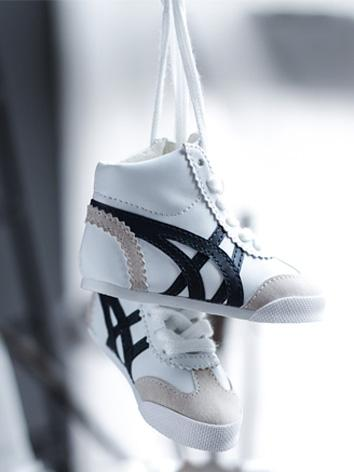 Bjd Shoes Male White/Black Sports Shoes/high-top shoes for SD/70cm Size Ball-jointed Doll