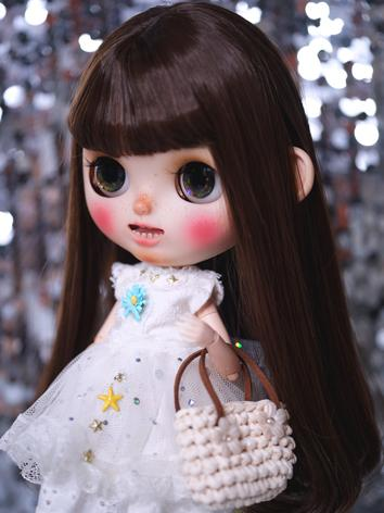 BJD Wig Girl Dark Brown  Ha...
