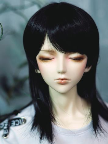 BJD Wig Boy Black Long Hair for SD Size Ball-jointed Doll