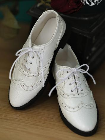 Bjd Shoes 70+ army uniform White Leather shoes SH119101 for 70CM Size Ball-jointed Doll
