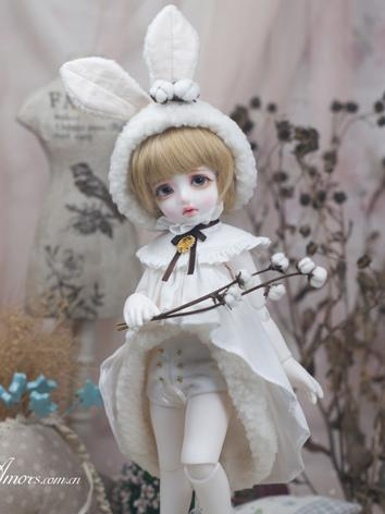 BJD Clothes 1/6 Girl/Boy White Dress Set for YOSD Ball-jointed Doll