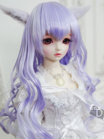 BJD Wig Girl/Boy Purple Lon...