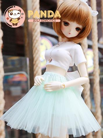 BJD Clothes Girl 1/4 size Black/White T-shirt+Skirt for MSD Ball-jointed Doll
