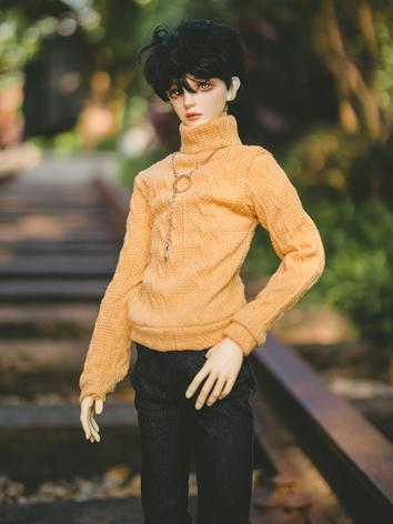 BJD Clothes Boy/Girl Yellow Turtleneck Sweater for MSD/SD/SD17/POPO68/LS73/SSDF Size Ball-jointed Doll