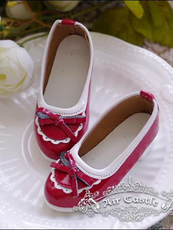 Bjd 1/4 Girl Shoes Red Shoes for MSD Ball-jointed Doll
