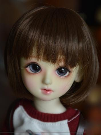 BJD Wig Girl  Brown Short Hair for 1/8 Size Ball-jointed Doll