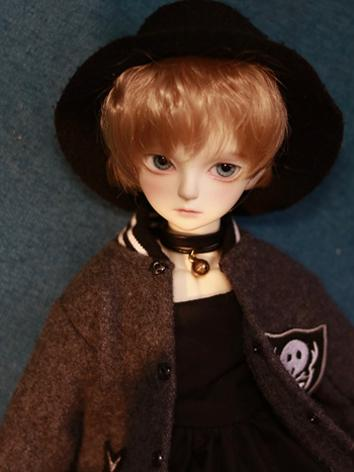 BJD Wig Boy Flax Gold Short...