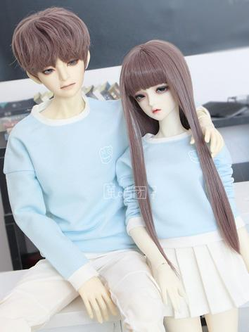 BJD Clothes Boy/Girl Blue Couples Shirt for 75cm/70cm/SD/MSD Size Ball-jointed Doll