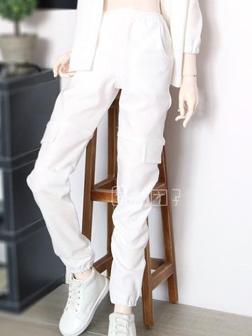 BJD Clothes Boy White Trousers for 70cm/SD/MSD Ball-jointed Doll
