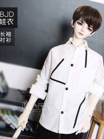 BJD Clothes Boy White Shirt...