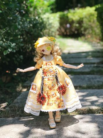 BJD Clothes Girl Yellow Dre...