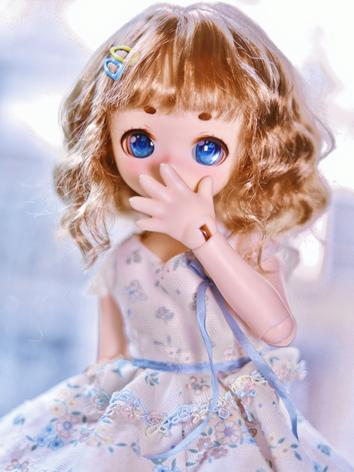 BJD Wig Girl Brown Curly Ha...